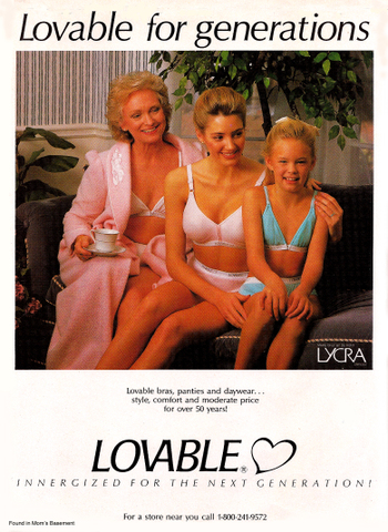 1990_lovable_lingerie_ad_copy vintage ad for women's underwear ad strategy,Womens Underwear Advertising